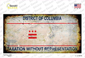District Of Columbia Rusty State Wholesale Novelty Sticker Decal