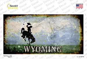 Wyoming Rusty State Wholesale Novelty Sticker Decal