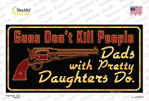 Guns Dont Kill People Wholesale Novelty Sticker Decal