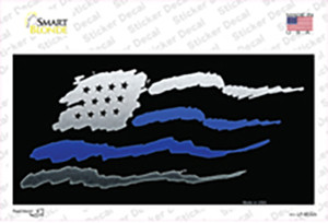 American Flag Thin Blue Line Wholesale Novelty Sticker Decal