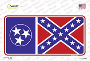 Confederate Flag Tennessee Wholesale Novelty Sticker Decal