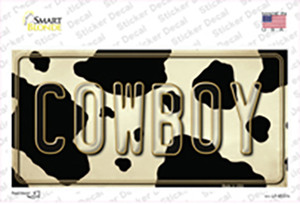 Cowboy Cow Wholesale Novelty Sticker Decal