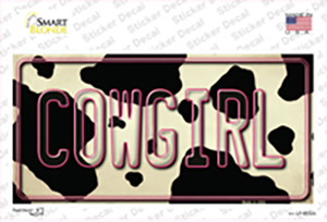 Cowgirl Cow Wholesale Novelty Sticker Decal