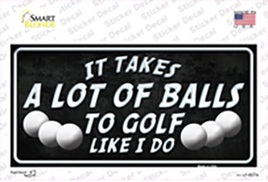 A Lot Of Balls Wholesale Novelty Sticker Decal