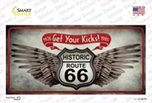 Get Your Kicks Wholesale Novelty Sticker Decal