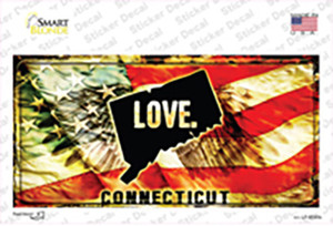 Connecticut Love Wholesale Novelty Sticker Decal