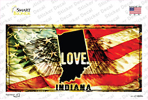 Indiana Love Wholesale Novelty Sticker Decal