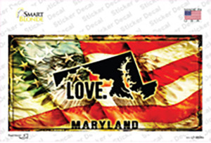 Maryland Love Wholesale Novelty Sticker Decal