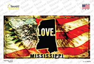 Mississippi Love Wholesale Novelty Sticker Decal