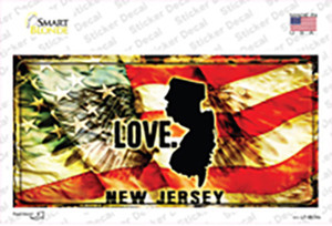 New Jersey Love Wholesale Novelty Sticker Decal