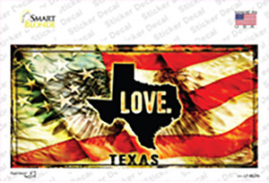 Texas Love Wholesale Novelty Sticker Decal
