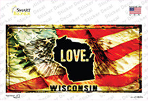 Wisconsin Love Wholesale Novelty Sticker Decal