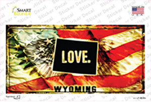 Wyoming Love Wholesale Novelty Sticker Decal