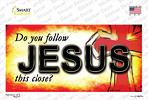 Follow Jesus This Close Wholesale Novelty Sticker Decal