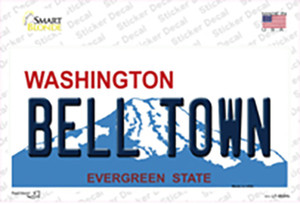 Bell Town Washington Wholesale Novelty Sticker Decal