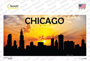 Chicago Silhouette Wholesale Novelty Sticker Decal