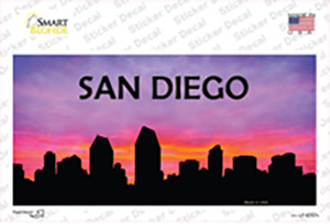 San Diego Silhouette Wholesale Novelty Sticker Decal