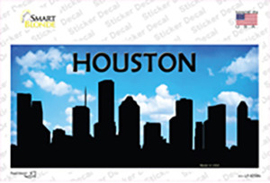 Houston Silhouette Wholesale Novelty Sticker Decal