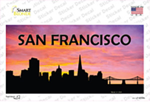 San Francisco Silhouette Wholesale Novelty Sticker Decal