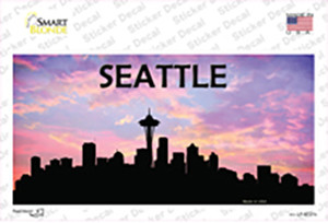 Seattle Silhouette Wholesale Novelty Sticker Decal