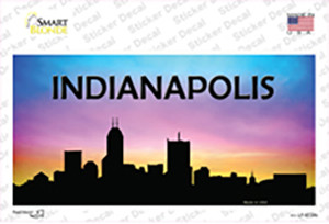 Indianapolis Silhouette Wholesale Novelty Sticker Decal