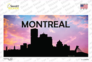 Montreal Silhouette Wholesale Novelty Sticker Decal