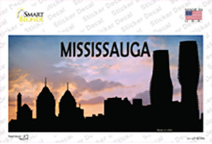 Mississauga Silhouette Wholesale Novelty Sticker Decal