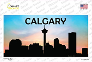 Calgary Silhouette Wholesale Novelty Sticker Decal