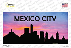 Mexico City Silhouette Wholesale Novelty Sticker Decal
