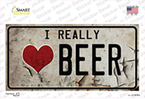 I Love Beer Wholesale Novelty Sticker Decal