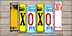 XOXO License Plate Art Novelty Wholesale Metal License Plate