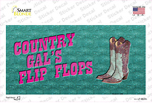 Country Gals Flip Flops Wholesale Novelty Sticker Decal