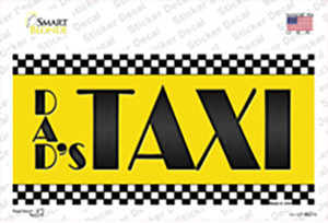 Dads Taxi Wholesale Novelty Sticker Decal
