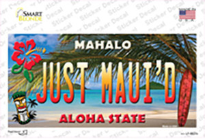 Just Mauid Hawaii Background Wholesale Novelty Sticker Decal
