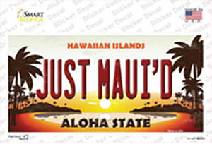Just Mauid Sunset Wholesale Novelty Sticker Decal