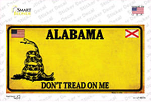 Alabama Dont Tread On Me Wholesale Novelty Sticker Decal