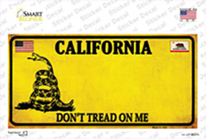 California Dont Tread On Me Wholesale Novelty Sticker Decal
