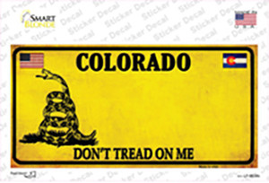 Colorado Dont Tread On Me Wholesale Novelty Sticker Decal