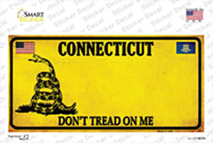 Connecticut Dont Tread On Me Wholesale Novelty Sticker Decal