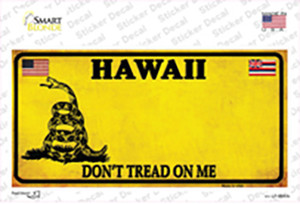 Hawaii Dont Tread On Me Wholesale Novelty Sticker Decal