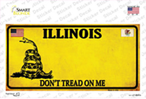 Illinois Dont Tread On Me Wholesale Novelty Sticker Decal