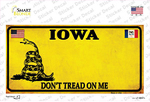 Iowa Dont Tread On Me Wholesale Novelty Sticker Decal