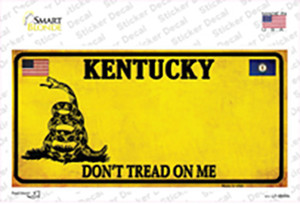Kentucky Dont Tread On Me Wholesale Novelty Sticker Decal
