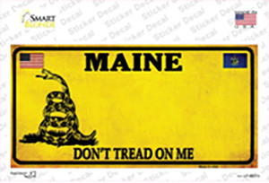 Maine Dont Tread On Me Wholesale Novelty Sticker Decal