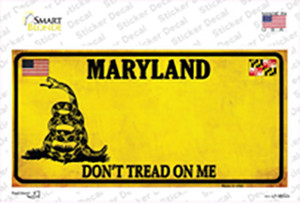 Maryland Dont Tread On Me Wholesale Novelty Sticker Decal