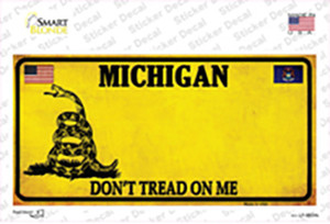 Michigan Dont Tread On Me Wholesale Novelty Sticker Decal