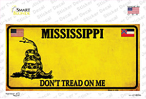 Mississippi Dont Tread On Me Wholesale Novelty Sticker Decal