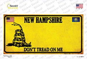 New Hampshire Dont Tread On Me Wholesale Novelty Sticker Decal