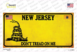 New Jersey Dont Tread On Me Wholesale Novelty Sticker Decal