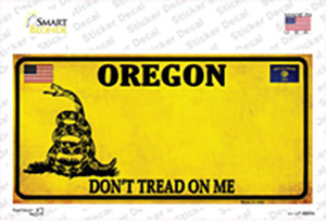 Oregon Dont Tread On Me Wholesale Novelty Sticker Decal
